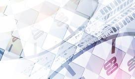 Laufen des quadratischen Hintergrundes, Vektorillustrationsabstraktion im rac Lizenzfreie Stockfotografie