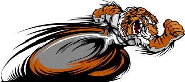 Laufen des Tiger-Maskottchen-Grafik-Bildes Lizenzfreie Stockbilder
