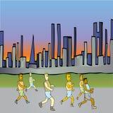 Laufen in die Stadt Lizenzfreie Stockfotografie