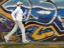 Laufen in die Stadt Lizenzfreie Stockfotos