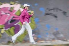 Laufen in die Stadt Lizenzfreie Stockbilder