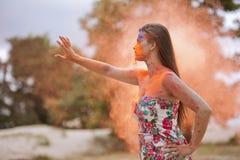 Laufen durch Feuer Lizenzfreie Stockfotografie