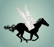 Pegasus-Pferd Lizenzfreies Stockfoto