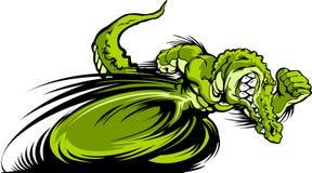 Laufen Gator oder Croc des Maskottchen-Grafik-Bildes Stockfoto