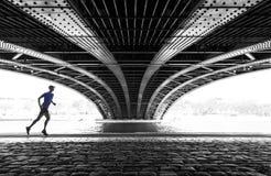 Laufen in Lyon stockfotos