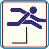 Laufen mit Hindernissen lokalisierte Vektorikone Lizenzfreies Stockfoto