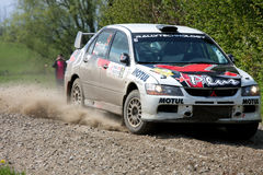 Laufen Mitsubishi Lancers EVO WRC Stockbild