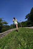 Laufen am Park Lizenzfreies Stockbild