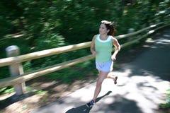 Laufen am Park Stockfoto