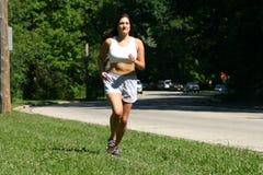Laufen am Park Stockfotos