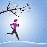 Laufen in Schnee Lizenzfreie Stockfotografie