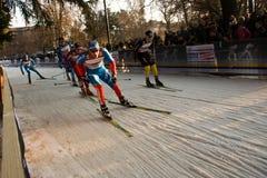 Laufen Sie in der Stadt, FIS QuerfeldeinWeltcup Stockbilder