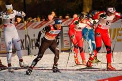 Laufen Sie in der Stadt, FIS QuerfeldeinWeltcup Stockfotos