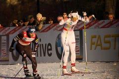 Laufen Sie in der Stadt, FIS QuerfeldeinWeltcup Lizenzfreies Stockfoto