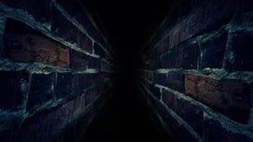 Laufen Sie durch den dunklen Korridor Es ` s dunkel und furchtsam 38 lizenzfreie abbildung