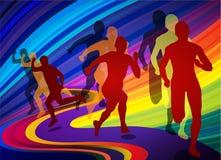 Laufen Sie für Olympische Spiele Lizenzfreies Stockbild