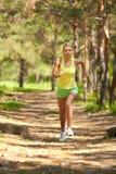 Laufen Sie in Holz Lizenzfreies Stockfoto