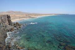 Laufen Sie nahe EL Cotillo, Fuerteventura leer lizenzfreies stockbild