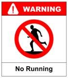 Laufen Sie nicht, Verbotszeichen Laufen verboten, Vektorillustration vektor abbildung