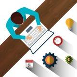 Laufen Sie Unternehmen an vektor abbildung
