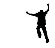 Laufen Sie weg auf Weiß - Ausschnittspfad Lizenzfreies Stockfoto