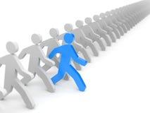 Laufen Sie zu den neuen Gelegenheiten Führung vektor abbildung