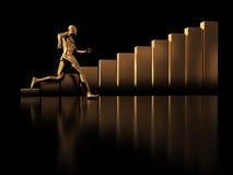 Laufen Sie zum Erfolg Lizenzfreie Stockfotografie