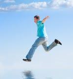 Laufen Sie zum Himmel Lizenzfreies Stockbild