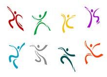 Laufen, springend und Tanzen Stockfotos