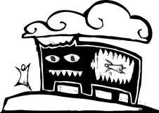 Laufen vom Monster Lizenzfreies Stockbild