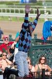 Laufen von Aktion von der Königin des amerikanischen Rennens Trac Lizenzfreie Stockfotografie
