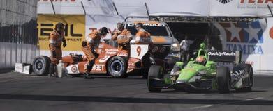 Laufen von Reihe Izod Indycar stockbilder