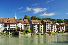 Laufenburg Switzerland with historic houses Stock Photography