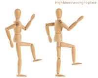 Laufende Übung des Knies Stockbilder