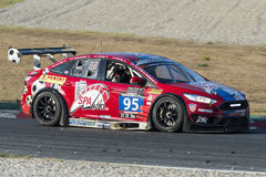 Laufende Abenteuer des Team-VDS Marc Focus V8 24 Stunden von Barcelona Lizenzfreie Stockbilder