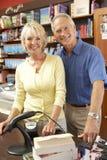 Laufende Buchhandlung der Paare Lizenzfreies Stockbild