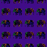 Laufende Elefanten, nahtlose Verzierung Stockbilder