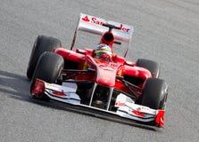 Laufende Formel 1 (spanisches großartiges Prix) Lizenzfreie Stockfotos