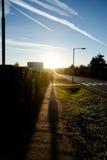 Laufende Frauen auf der Straße Stockfotografie