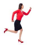 Laufende Geschäftsfrau stockfotografie
