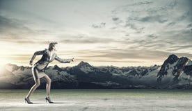 Laufende Geschäftsfrau Lizenzfreie Stockbilder
