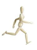 Laufende hölzerne Marionette Stockbild