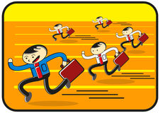Laufende Konkurrenz stock abbildung