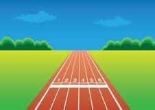 Laufende Rennenspur Lizenzfreies Stockfoto