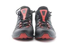 Laufende Schuhe schließen oben Stockfoto