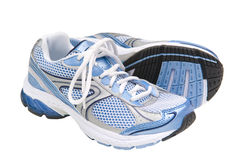 Laufende Schuhe trennten stockfotos
