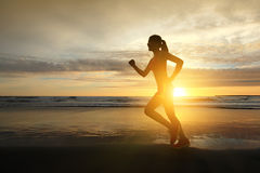 Laufende Sportfrau Stockfotografie
