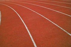 Laufende Spur der Athletik Lizenzfreie Stockfotos