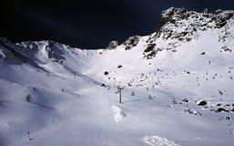 Laufende Spur des Schnees Lizenzfreies Stockfoto