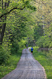 Laufende Spur entlang dem Erie-Kanal, Cleveland, Ohio Lizenzfreie Stockfotografie